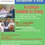 """""""Kurpfälzer Gebabbel und Gesang"""" am 01. Juni  im MundWerk in Rauenberg"""
