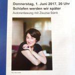 """Autorenlesung mit Zsuzsa Bánk – """"Schlafen werden wir später"""""""