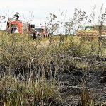 Walldorf: Flächenbrand auf abgeerntetem Acker