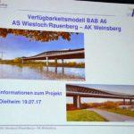 Information zum Ausbau der A6 und die Verkehrsfolgen …