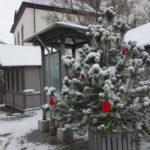 Verschneiter Weihnachtsmarkt in Walldorf