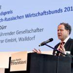 Der Walldorfer Stefan Dürr mit dem ersten Mittelstandspreis des Deutsch-Russischen Wirtschaftsbunds ausgezeichnet