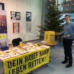 Toller Erfolg  der Amnesty_Gruppe beim Briefmarathon in Wiesloch und Walldorf: