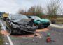 Drei Verletzte und drei total beschädigte Autos