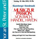 Rauenberger Abendmusiken mit Musik zur Passion