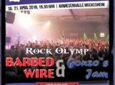 """Heute: FC Rock in Meckesheim mit """"Gonzo´s Jam"""" und dem """"Barbed Wire Rockolymp""""."""