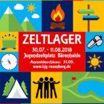 Zeltlager der KjG Rauenberg auf der Bärenhalde in Rheinland-Pfalz