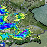 Amtliche WARNUNG vor STARKEM GEWITTER  für Rhein-Neckar-Kreis
