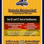 Deutsche Meisterschaft im Basketball Ü35-Damen in Sandhausen am 16. u. 17.06.