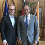 Jens Brandenburg MdB zu Gast in Heidelberger Rathaus