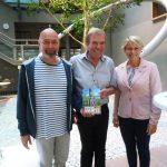 Preisverleihung für die besten Stadtradler mit Arnim Töpel und Günter Haritz