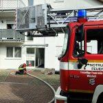 Zimmerbrand in Baiertal