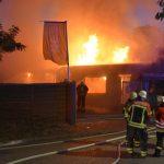 Bilder vom Vereinsheimbrand