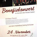 Benefizkonzert mit dem Heidelberg Swing Orchester und Klaus Thomé zugunsten Hospiz Agape