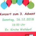Nicht vergessen: Konzert der Stadtkapelle zum 3. Advent