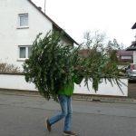 Tannenbaum-Aktion der EGJ Walldorf am 12. Januar