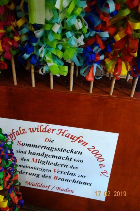 Der Churpfalz Wilder Haufen bastelt Sommertagsstecken