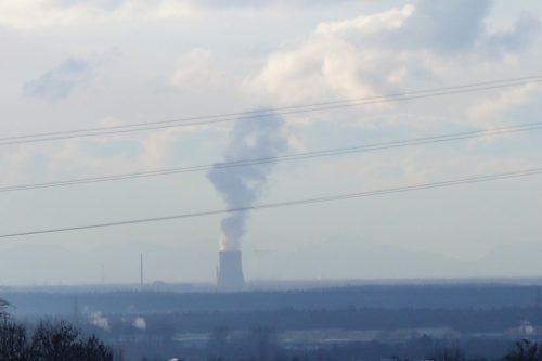 Foto der neue Kraftwerks-Silhouette heute