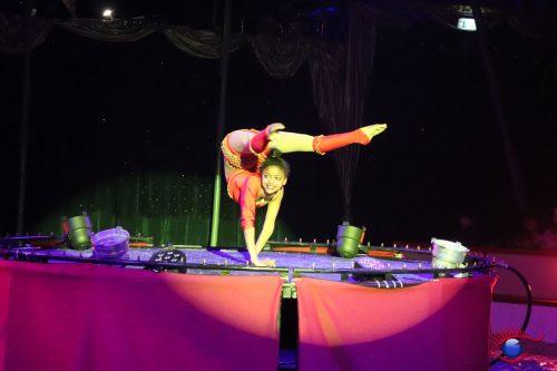 Teilnehmerin des Internationale Zirkusfestival von Monte-Carlo