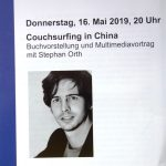 """Couchsurfing in China"" mit Stephan Orth am 16. Mai"