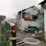 Wiesloch: Brand nach Explosion in Wohngebäude