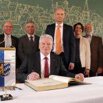 Joachim Gauck Bundespräsident a.D. besuchte Wiesloch