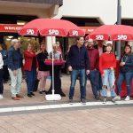 Entspannte Stimmung herrschte beim Jungwählertreff der SPD Ortsvereine auf dem Wieslocher Marktplatz