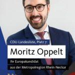 CDU Wiesloch lädt ein zum Talk mit Europakandidat Moritz Oppelt