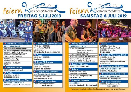 Wiesloch Stadtfest Programm