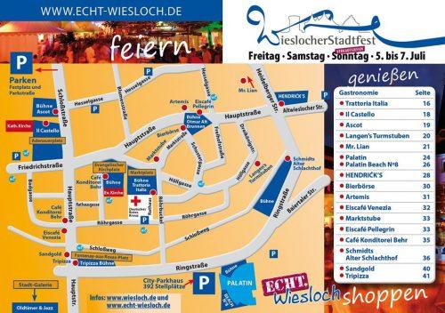 Wiesloch Stadtfest Plan