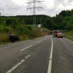 Leimen: Schwerer Unfall auf L600 – Rettungskräfte im Einsatz