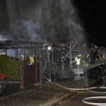 St. Leon: Feuerwehreinsatz am See wegen brennenden Wohnwagen