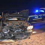 Unfall auf B39 bei Mühlhausen – Rettungskräfte im Einsatz