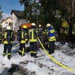 Teurer Oldtimer brennt in Rauenberger Industriegebiet aus