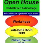 Herbstferienaktionstage im IB-Jugendzentrum Wiesloch: Culture Tour und Open House am 29. und 30.10.2019