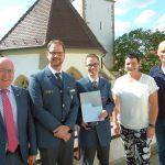 Wiesloch: Ehrenplakette übergeben