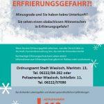 Wiesloch: Erfrierungsschutz aktuell