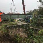 Feldbahnfreunde bekommen eine historische Eisenbahnbrücke geschenkt