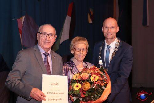Rainer Kircher und seine Ehefrau Margit mit OB Elkemann
