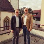 Wiesloch: Bundestagsabgeordneter Dr. Jens Brandenburg besucht Oberbürgermeister Dirk Elkemann