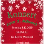 Stadtkapelle Walldorf: Konzert zum 2. Advent