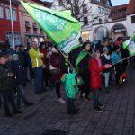 Fridays For Future Wiesloch Demontration vor dem Rathaus während Gemeinderatssitzung