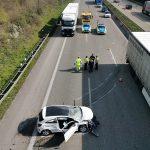 Wiesloch-Frauenweiler/BAB 6: Nach Verkehrsunfall A 6 in Richtung Mannheim gesperrt