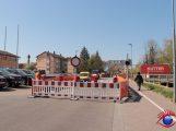 Vollsperrung der Schwetzinger Straße auf Höhe der Einmündung Dr. Martin-Luther-Straße