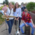 Musiker-Flashmob mit der Stadtkapelle Walldorf