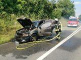 Wegen einem brennenden Fahrzeug – L 612 zwischen Dielheim und Horrenberg gesperrt