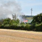 Wiesloch: Mehrere Gartenhütten in Vollbrand
