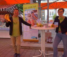Walldorf: Fairtrade-Stände auf dem Wochenmarkt