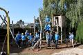 Freiwilligentag 2020: Schweickert erneuert Spielplatzfläche beim Kinderschutzbund in Wiesloch